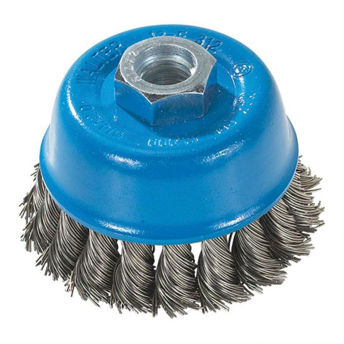 """Knot-Twisted Wire Cup Brush - 3"""" x M14x2.0   Construction Fasteners and  Tools"""